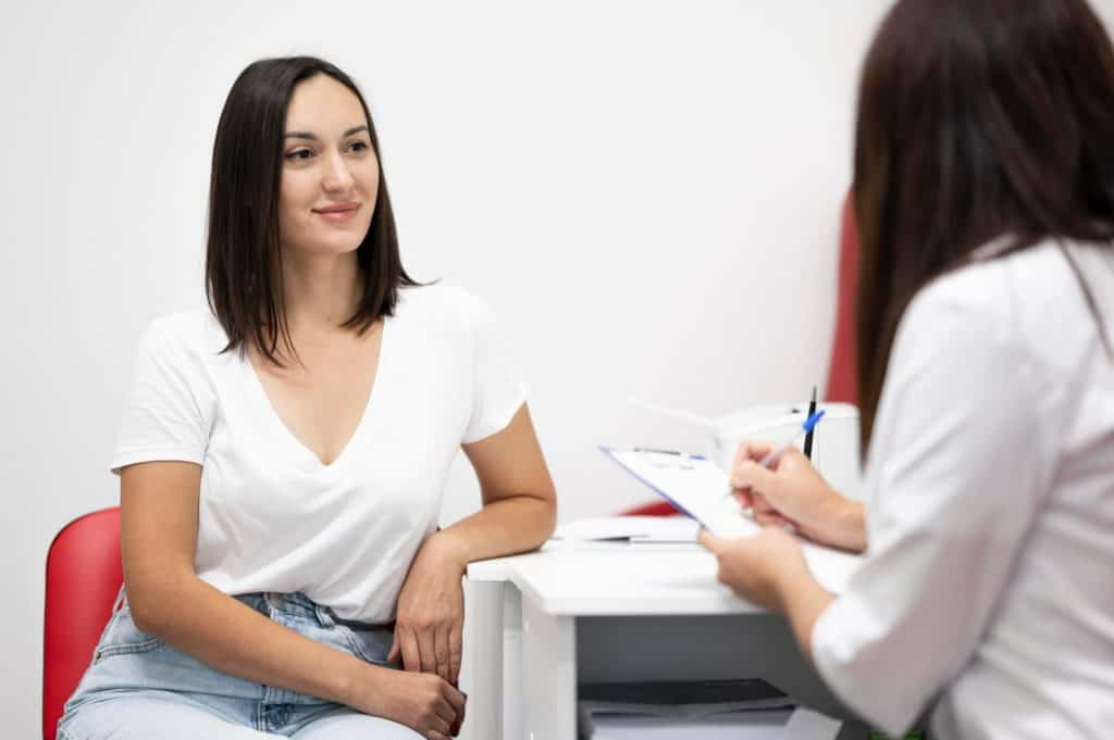 Woman Taking to a Lady Gynecologist